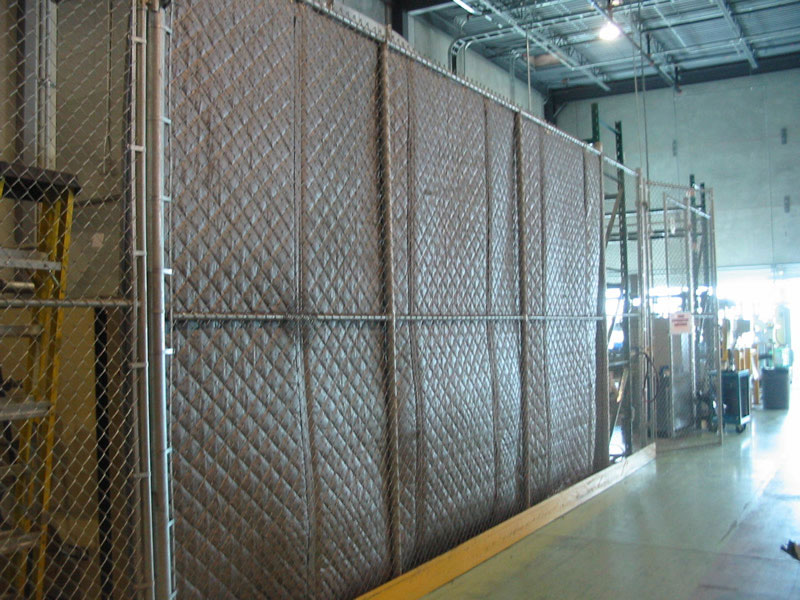 Noise Panels Chainlink Fence