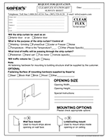 Clearflex Stationary Survey Sheet