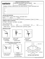 Curtain for Sheet Metal Hood Survey Sheet