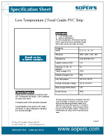 Low Temperature / Food Grade PVC Strip