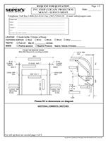 PVC Strip Curtain Projection Mount Survey Sheet