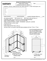 Portable Noise Screens Survey Sheet