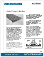 Quilted Acoustic Absorbers