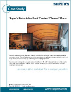 Retractable Roof Creates Cleaner Room