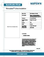 Thinsulate Ultra Insulation