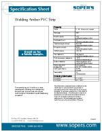 Welding Amber PVC Strip
