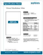 Woven Polyethylene, White