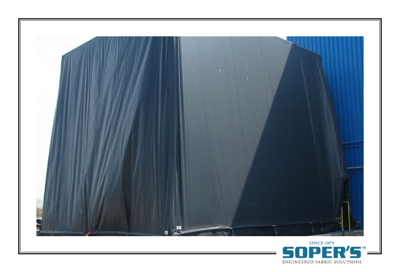 outdoor curtain for cross-contamination control