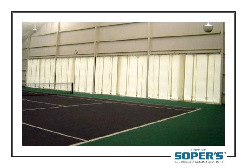 outdoor curtain for tennis court
