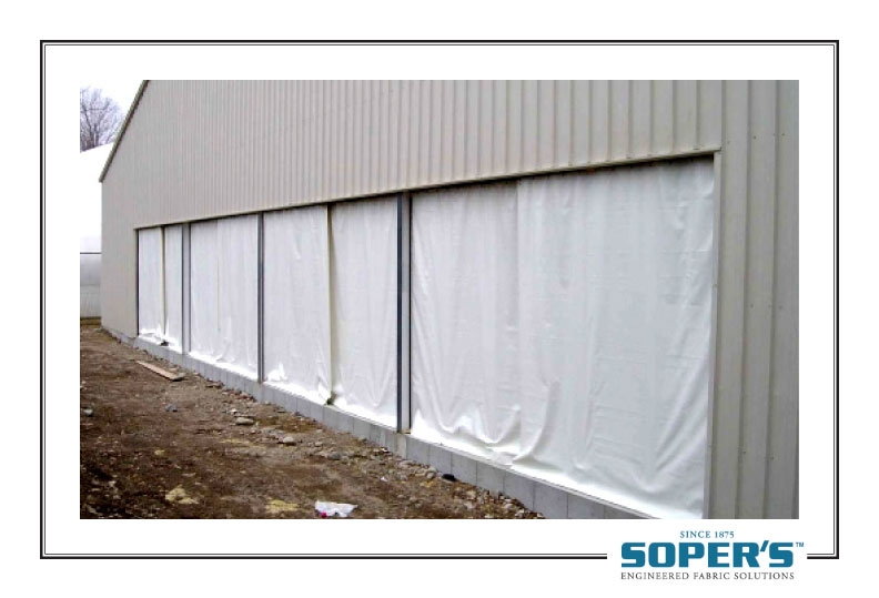 outdoor curtain for warehouse