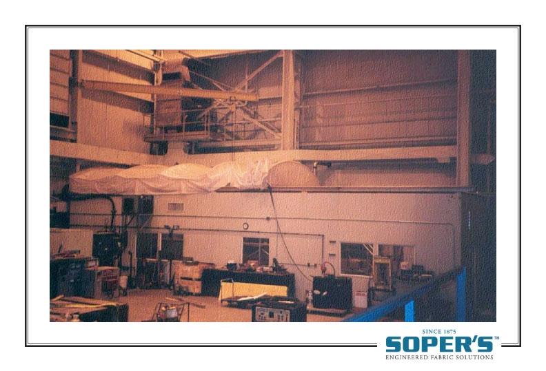 retractable enclosure inside factory