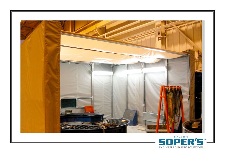 small retractable enclosure for dust control