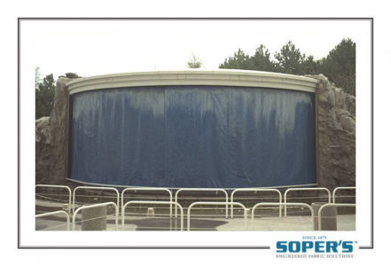 Outdoor stage curtain